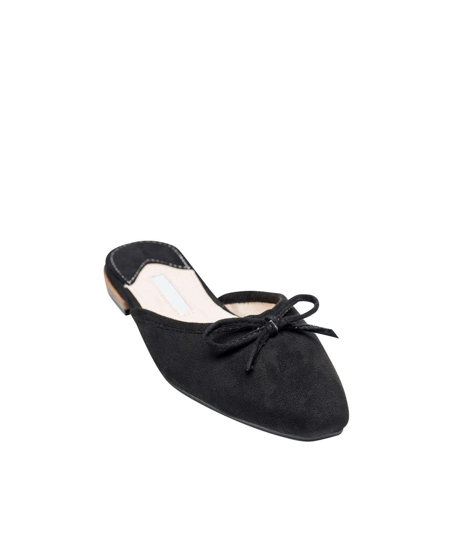 Cute Bow Ballet Flat Mules